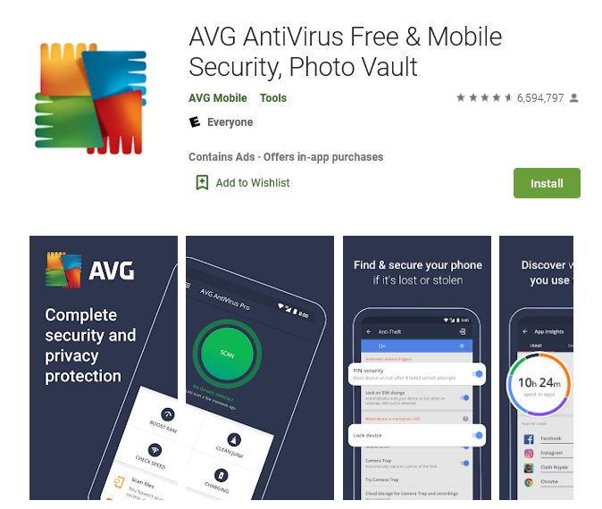AVG AntiVirus 2019 for Android