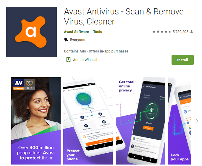 Avast Antivirus for Android Phone