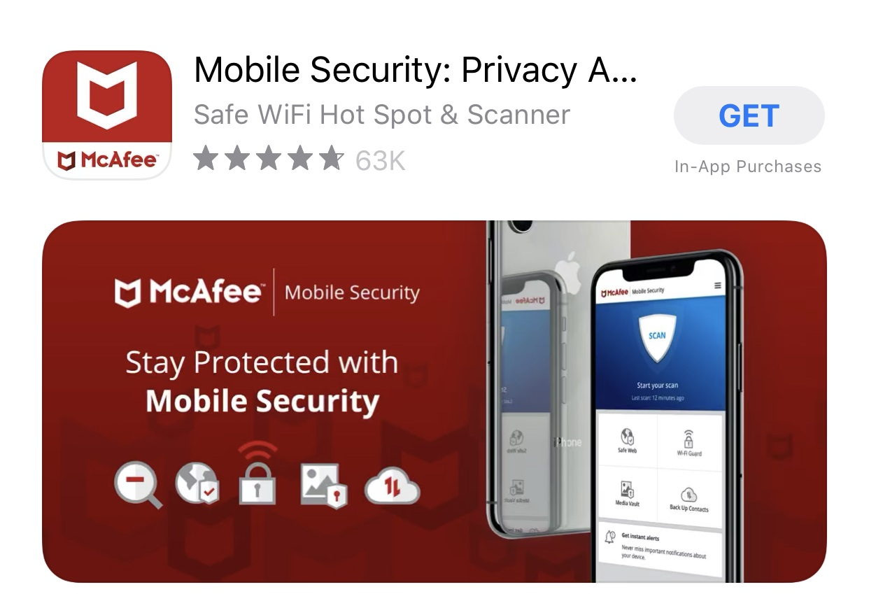 McAfee antivirus for iphone