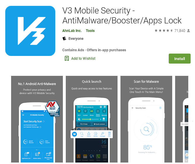 V3 Mobile Security Antivirus for android