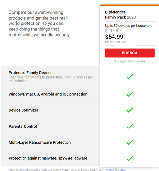 Bitdefender Prices