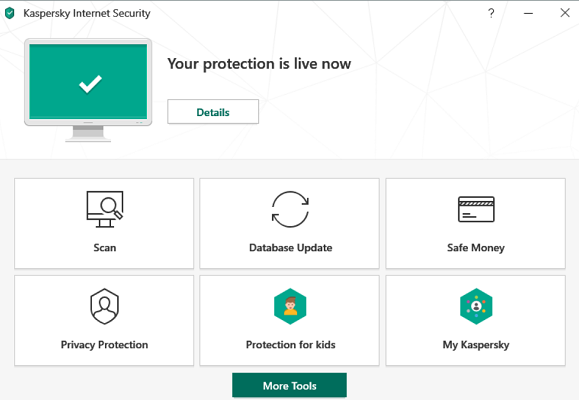 Kaspersky Antivirus Userinterface