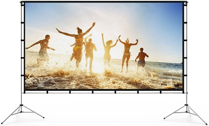 Vamvo Portable Projector Screen 120-inch
