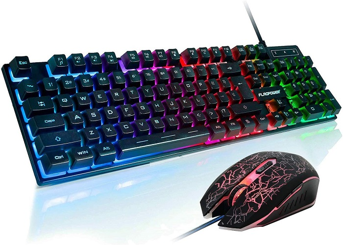 Best Gaming Keyboard and Mouse Combo Under 50 - FLAGPOWER Gaming Keyboard and Mouse Combo