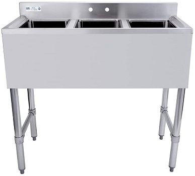 HALLY SINKS & TABLES H 3 Compartment Sink of Stainless Steel